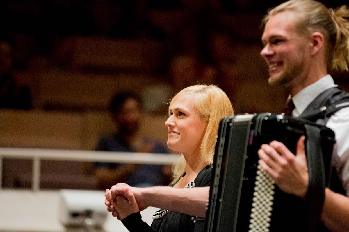 Uraufführung der Meeres-Enge von Matthias Matzke beim PhilHarmonika Konzert 2017 im Kammermusiksaal der Berliner Philharmonie.