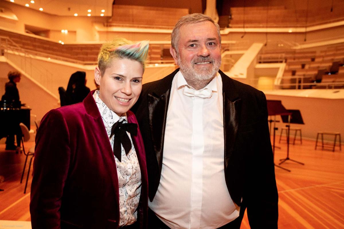 Komponistin B. Ilin (Mazedonien) mit V. Zubitsky