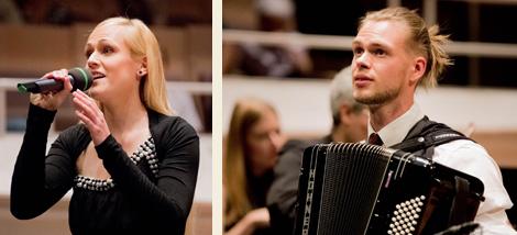 Leonie Kratz Gesang und Matthias Matzke Akkordeon aus Deutschland. Fotos: Christoph Soeder